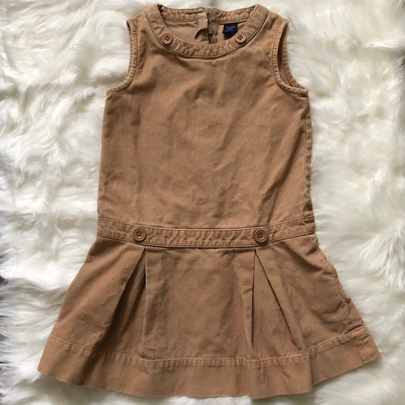 Baby GAP Corduroy Button Dress with Pleats